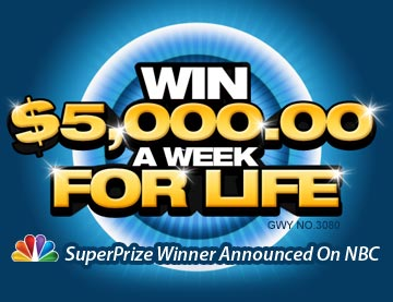 Win $5000 a week for life!
