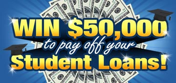 Win $50000 to pay off student loans!